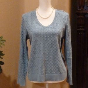 Talbots Cable Knit Sweater GUC XLg